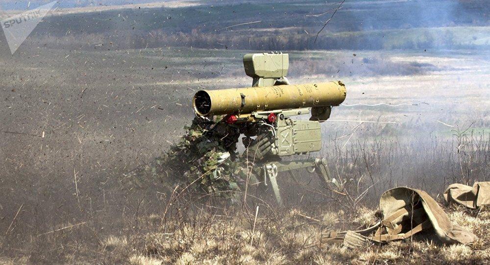 Un sistema de misiles antitanque (imagen referencial)