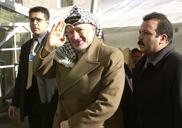 Yasir Arafat, líder histórico de Palestina, fallecido en 2004 (archivo)