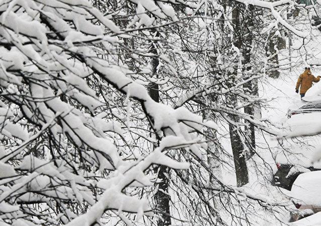 La nevada en Moscú a finales de enero, antes de los récords de febrero