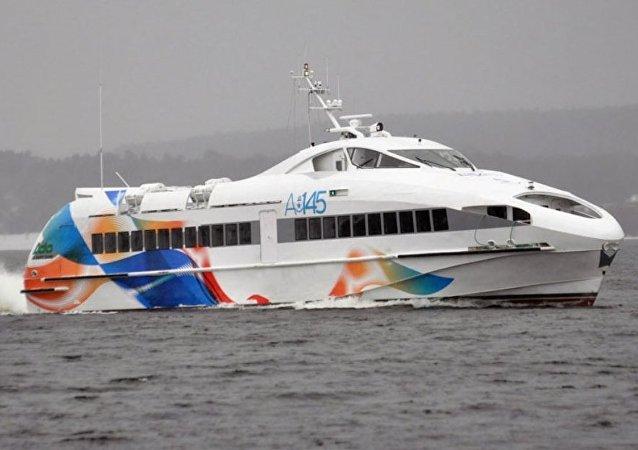 El barco de pasajeros A145 del astillero de Zelenodolsk, Tartaristán (Rusia)