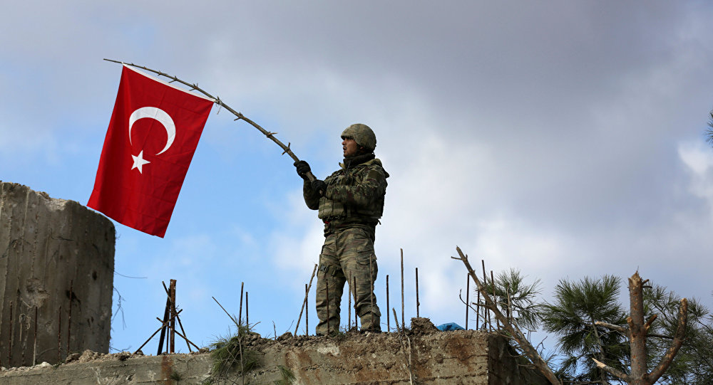 Soldado turco en Afrín