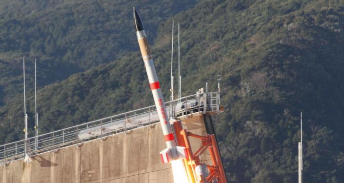 El lanzamiento del cohete japonés SS-520