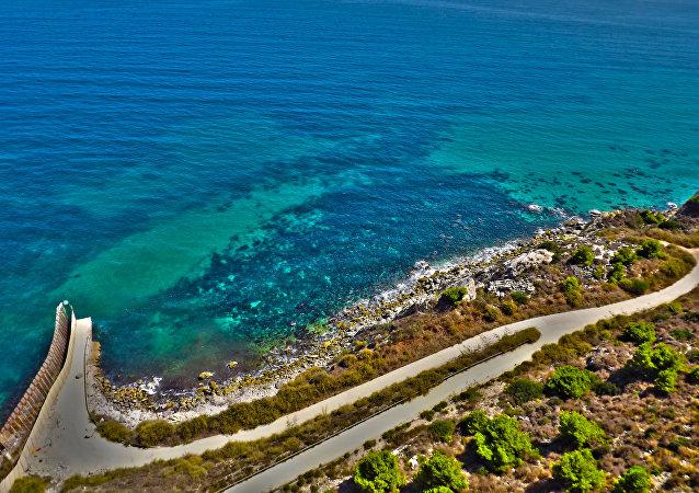 La costa de Melilla, España (imagen referencial)