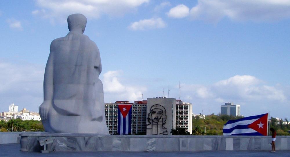 Monumento al escritor José Martí en la plaza de la Revolución en La Habana, Cuba