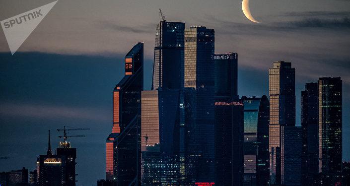 El amanecer en Moscú