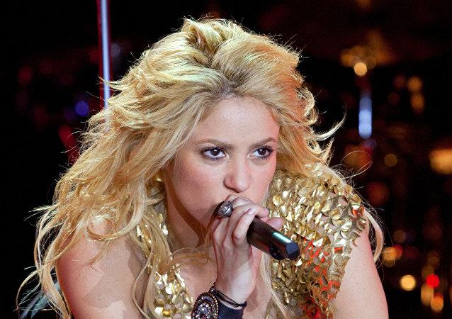 La cantante colombiana Shakira da un concierto en el complejo deportivo Olympiysky de Moscú