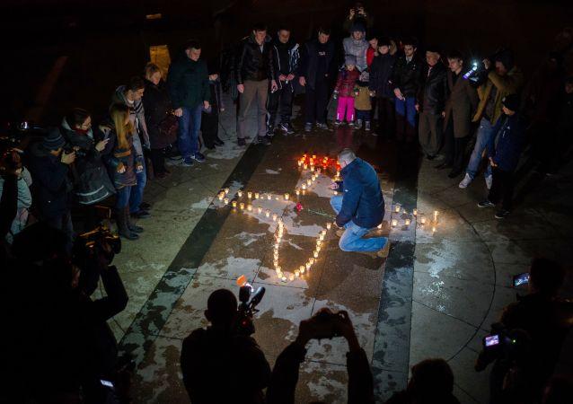 Los rusos honran la memoria del piloto ruso fallecido en Siria