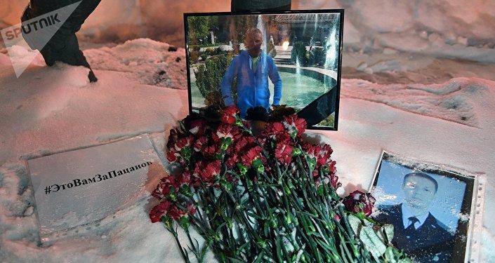 Homenaje al piloto ruso del Su-25 fallecido en Siria