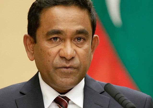 Abdulla Yameen, presidente de Maldivas (archivo)