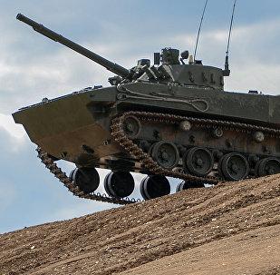 Un BMP-3, foto de archivo