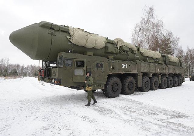 El sistema de misiles balísticos intercontinentales ruso Yars (imagen referencial)