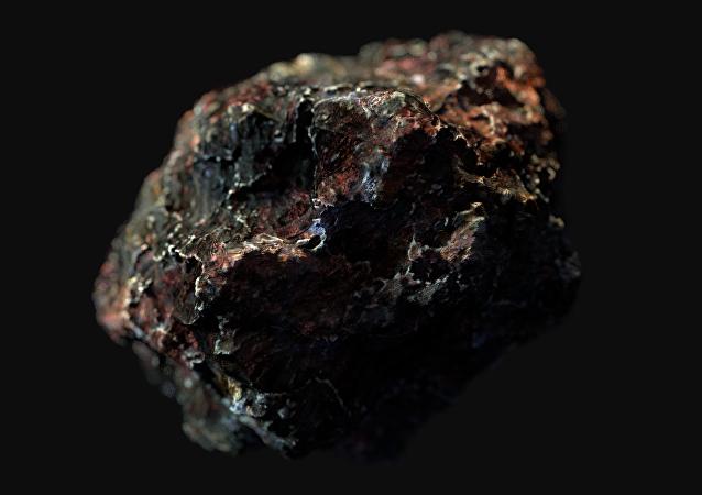 Una piedra espacial, imagen de archivo