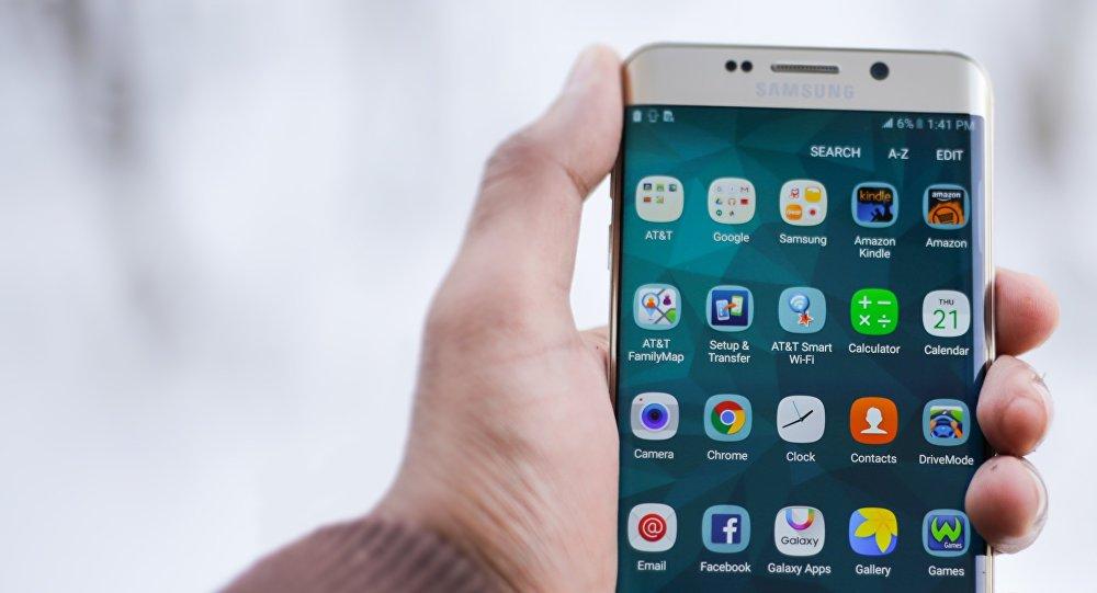 Un teléfono inteligente Samsung, imagen referencial