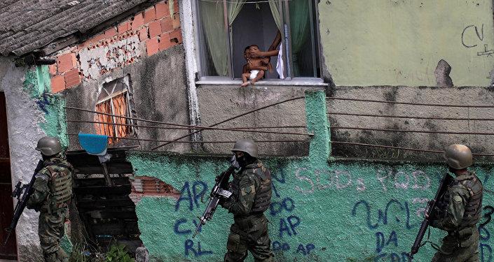 La operación policial en en Ciudad de Dios, Río de Janeiro, Brasil