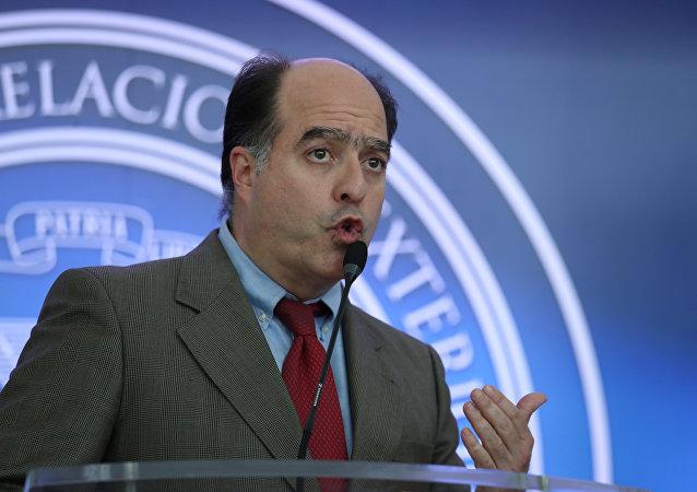 Julio Borges, diputado venezolano, quien encabeza la delegación de la oposición