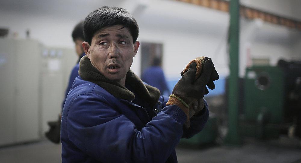 Trabajador norcoreano (imagen referencial)