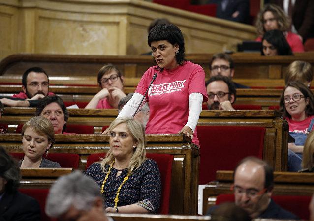 Anna Gabriel, exdiputada catalana de la Candidatura d'Unitat Popular (CUP) (archivo)