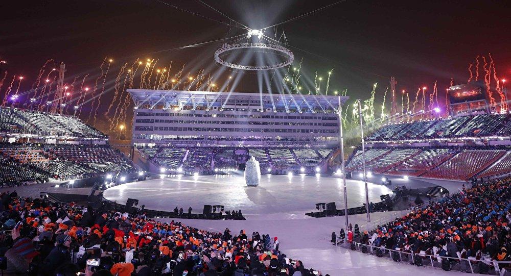 La ceremonia de inauguración de los Juegos de Invierno