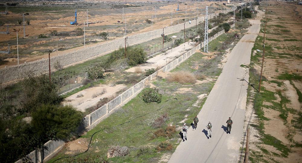 La frontera entre Egipto y la Franja de Gaza
