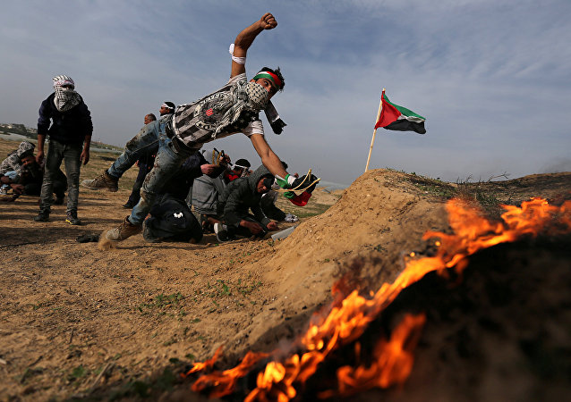 Protestas palestinas en Gaza