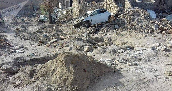 Cementerio profanado en Mosul