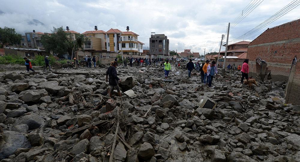 Inundaciones en Tiquipaya, Bolivia