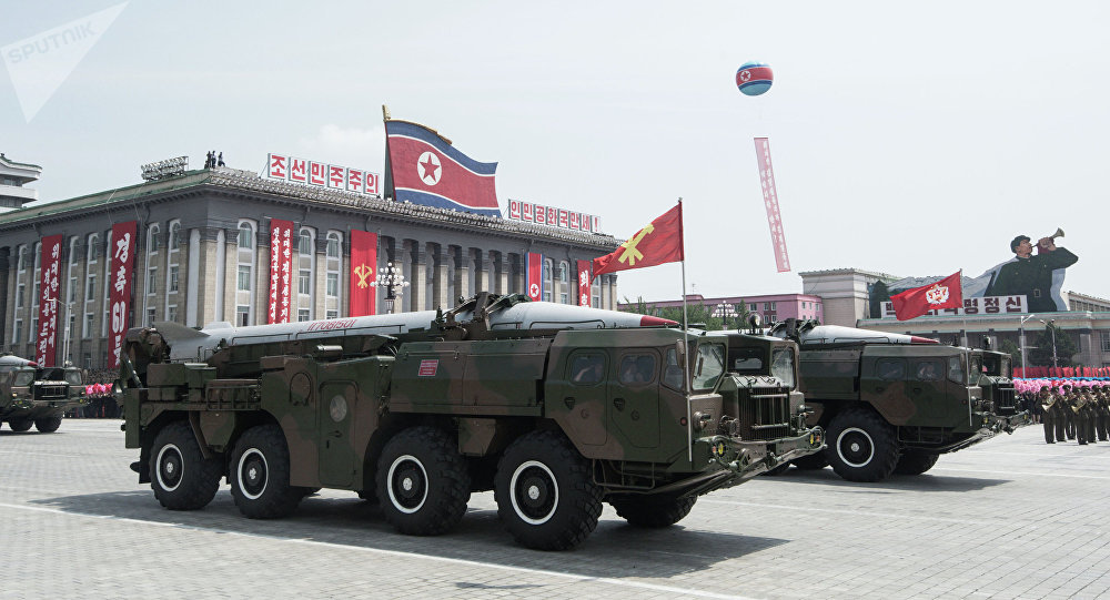 Desfile militar en Pyongyang (archivo)