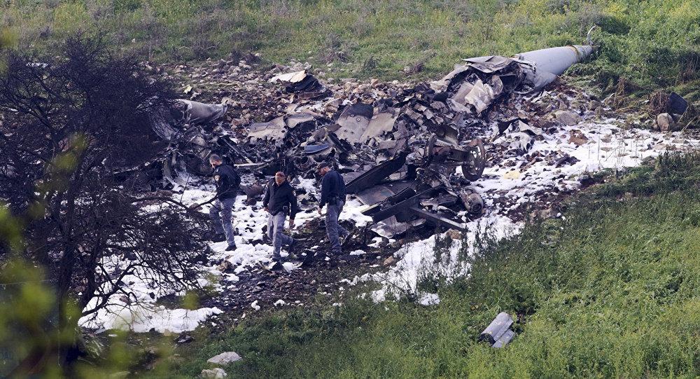 Un avión israelí F-16 se estrelló en el norte de Siria
