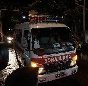 Ambulancia en Indonesia (archivo)