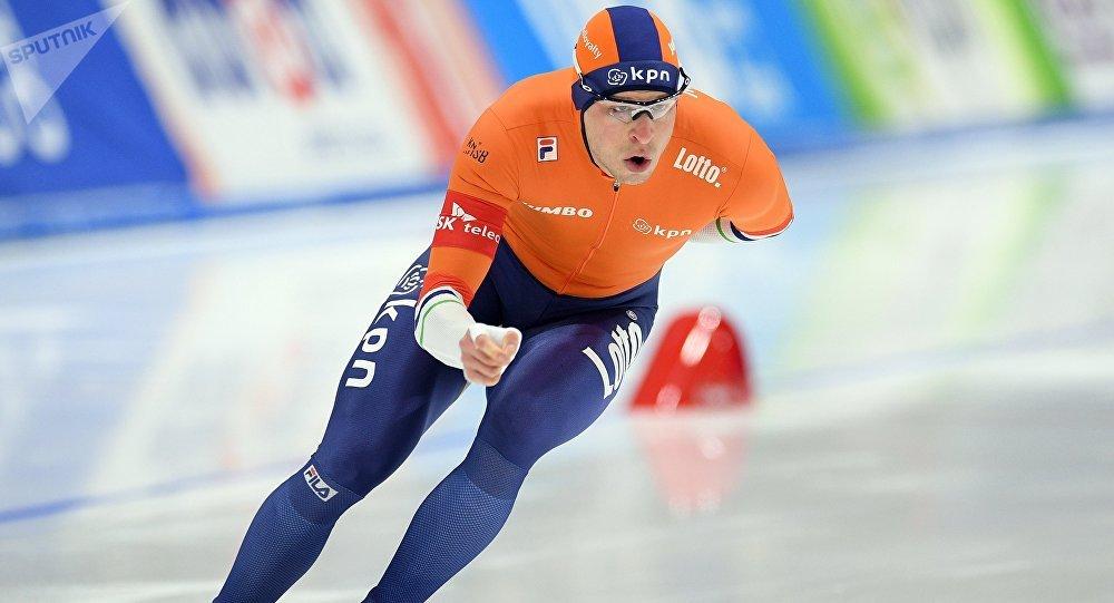 El patinador neerlandés Sven Kramer