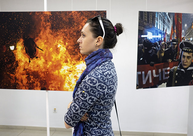 Exposición con las fotografías ganadoras del Concurso Internacional Andréi Stenin en Krasnodar