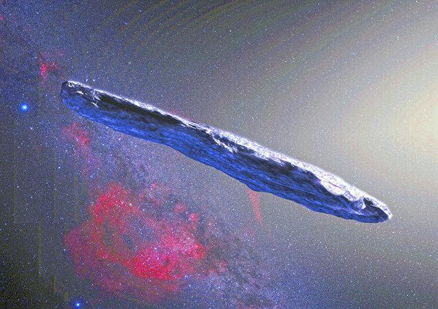 El asteroide Oumuamua, impresión artística