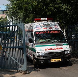 Una ambulancia en la India (archivo)