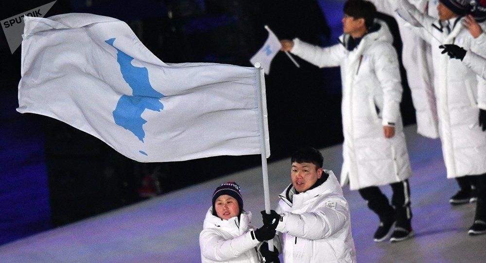La selección unificada coreana (imagen referencial)