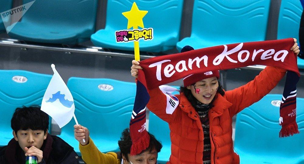Los hinchas de Corea en los JJOO en Pyeongchang
