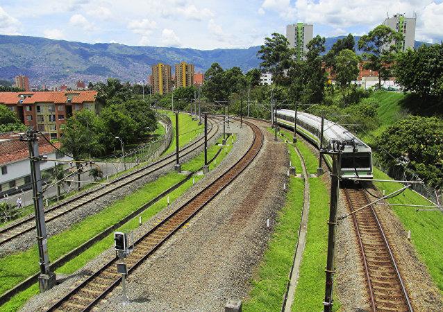 Ferrocarril en Colombia (imagen referencial)