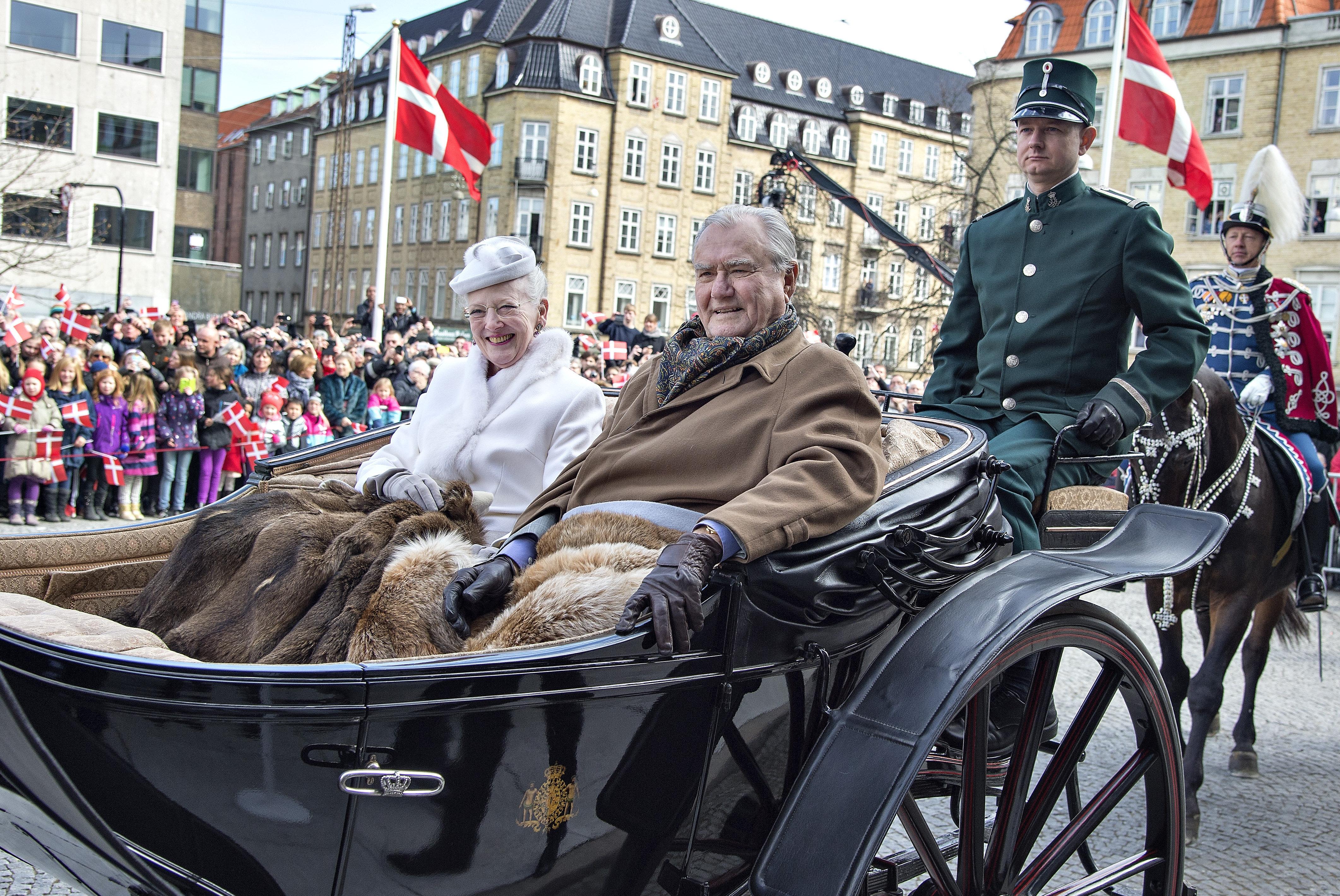 Reina Margarita II y príncipe Enrique de Laborde