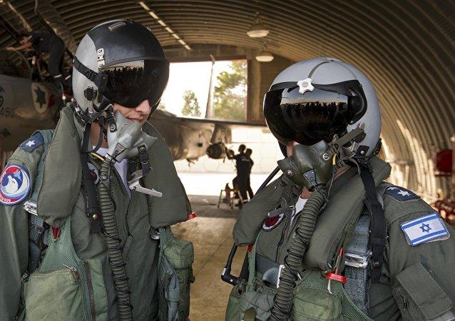 Pilotos militares israelíes, foto de archivo