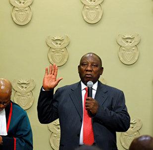 Cyril Ramaphosa, presidente electo de la República de Sudáfrica