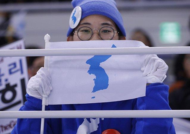 La bandera de la península de Corea