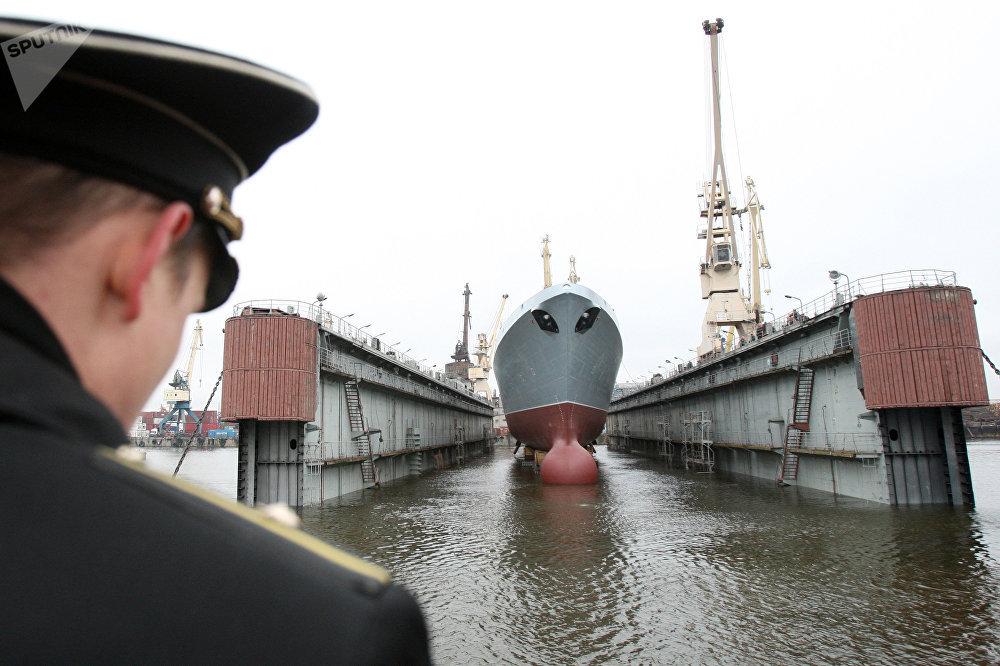 La botadura de la fragata Almirante Gorshkov