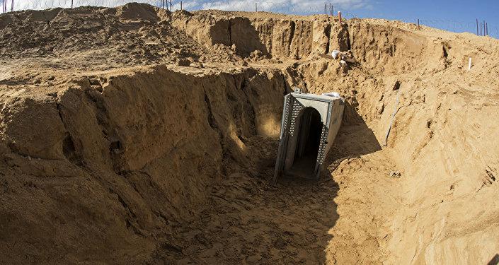 Un túnel en Gaza, imagen referencial