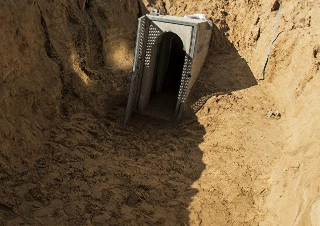 Un túnel en Gaza (imagen referencial)
