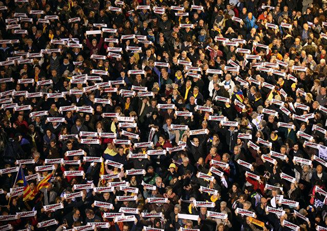 Una manifestación en Barcelona