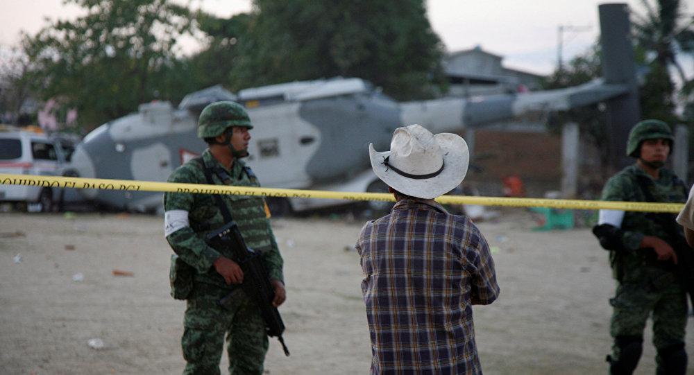 La caída de un helicóptero en México