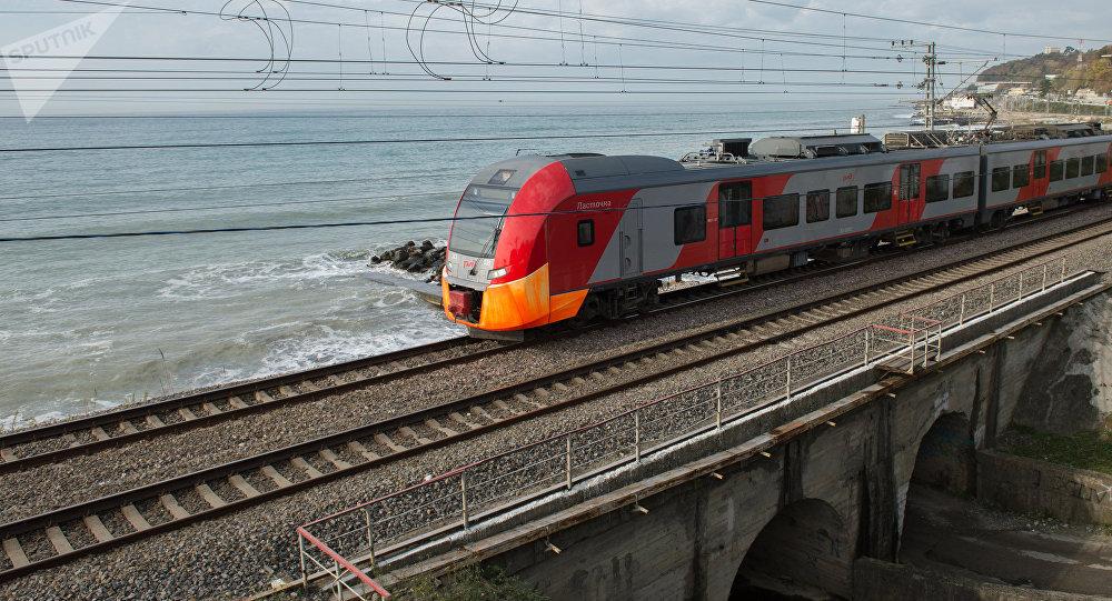 El tren de la empresa ferroviaria RZhD