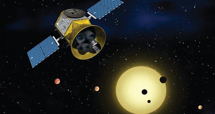 El satélite Transiting Exoplanet Survey (TESS) de la NASA (impresión artística)