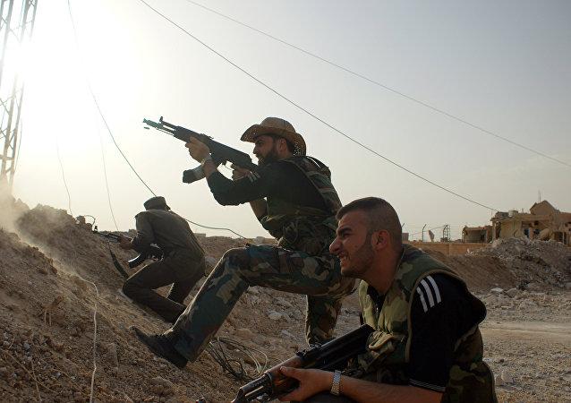 Milicias progubernamentales sirias (archivo)