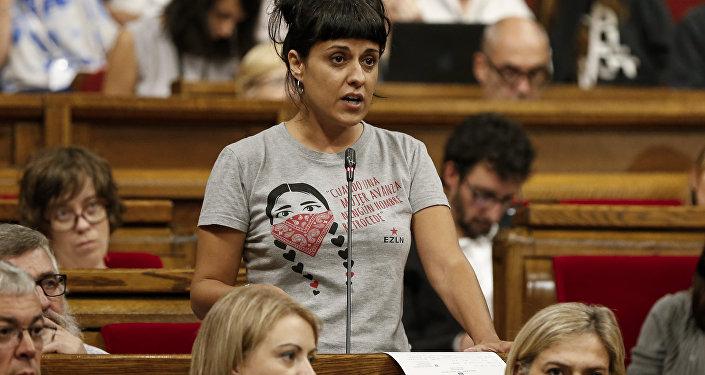 Anna Gabriel, la exdiputada catalana de la Candidatura d'Unitat Popular (CUP) (archivo)