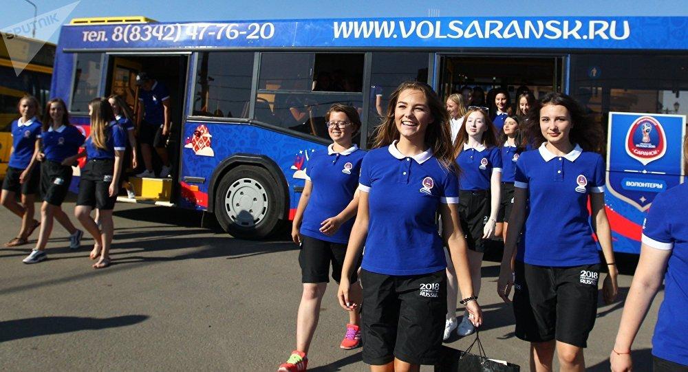 Voluntarios de la Copa Mundial de Fútbol 2018